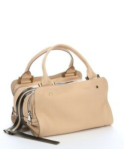 Chloe Daltson Satchel purse in Beige and Black