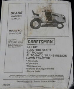 """Craftsman RideOn 42"""" EXCELLENT condition, ready for the season"""