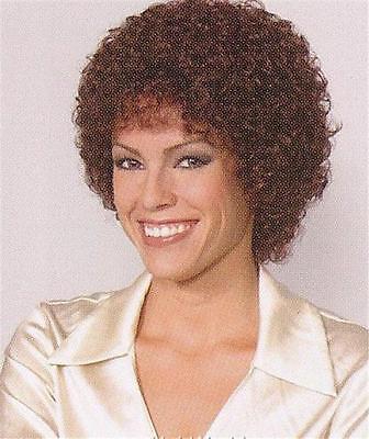 Dark Auburn Short Wig w/ Medium Tight Curls - Sandra