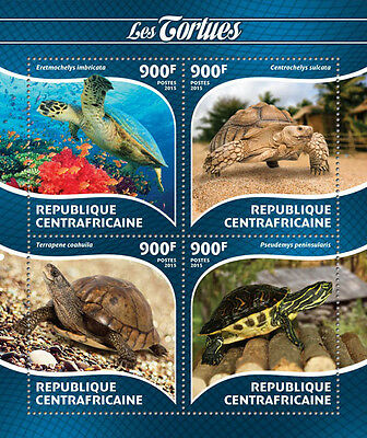 CENTRAL AFRICA 2015 TURTLES ANIMALS TURTLE S/S CA15221