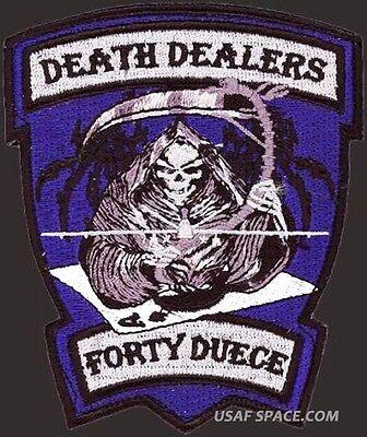 USAF 42nd Attack Sq - Death Dealers - MQ-9 REAPER UCAV DRONE -ORIGINAL VEL PATCH