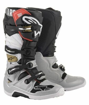 2020 Alpinestars Tech 7 Motocross Boots - Black/Silver/Gold, UK9/US10 BNIB