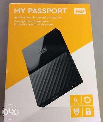 BRAND NEW Western Digital WD 4TB My Passport Portable External Hard Drive