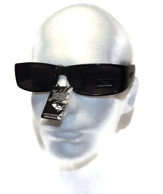 Locs Black OG Biker Shades Original Gangster Shades Mens Sunglasses Dark Lens