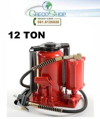 Cric/Martinetto a bottiglia doppia funzione idraulico e pneumatico 12T/12000Kg