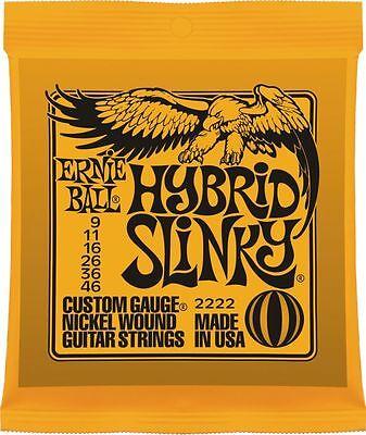 Ernie Ball 'Hybrid Slinky' Electric Guitar Strings 9 - 46. p/n 2222