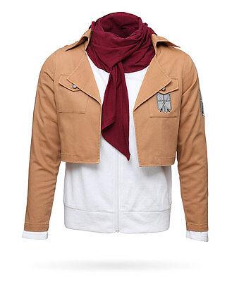 Attack on Titan Mikasa Ackerman (Size: 2XL) Cosplay Costume Jacket Hoodie Scout](Attack On Titan Mikasa Costume)