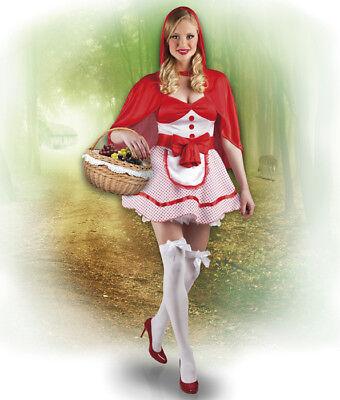 sexy Damen Kostüm Rotkäppchen Red Riding Hood rot weiß Karneval  costume 38/40 - Sexy Red Riding Hood Kostüm