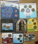 San Marino. Lot met 8 coincards/blisters 2002/2010