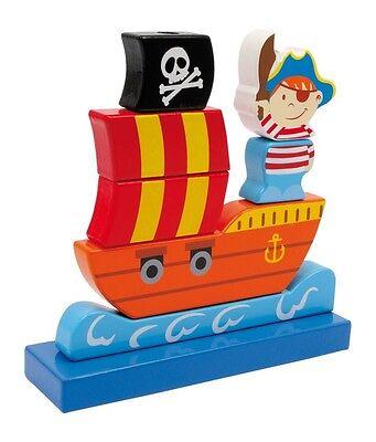 Nave Pirati Legno x Gioco e Apprendimento di forme e colori per Bambini, Legler