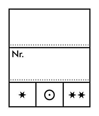 Lindner Preis-Eitketten, Preisetiketten, Format:23x27mm, 1000er Pack (802024)