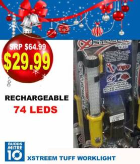 BRAND NEW TUFF WORKLIGHT - RECHARGABLE 74 LEDS XSTREEM Broadbeach Waters Gold Coast City Preview
