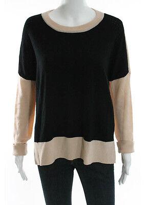 DEREK LAM 10 CROSBY Multi Colored Wool Long Sleeve Scoop Neck High Low Top Sz 50