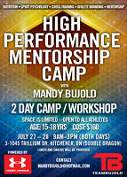 High Performance Mentorship Camp with Olympian Mandy Bujold