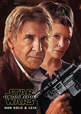 STAR WARS The Force Awakens HAN SOLO LEIA Promo Card