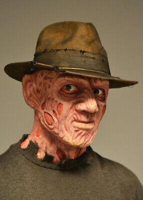 Freddy Krueger Fedora Hat (Freddy Krueger Style Distressed Brown Fedora)