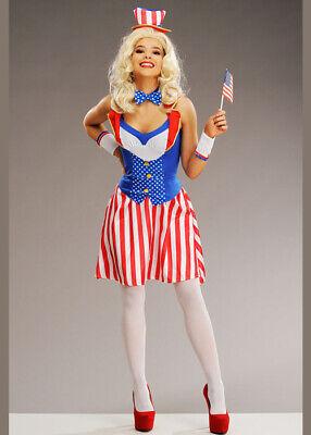 Womens Miss America Uncle Sam USA Costume