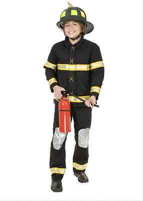 Fireman Fire Fighter Career Occupation Dress Up Halloween Child Costume 2 COLORS
