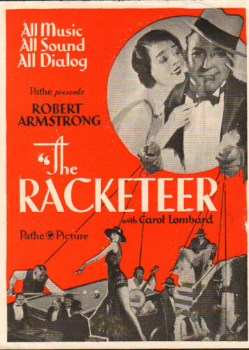 The Racketeer  Movie Herald  from the 1929 Movie staringCaarol Lombard