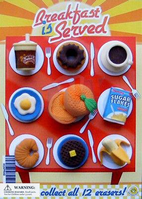 Vending Machine 0.250.50 Capsule Toys - Breakfast Erasers