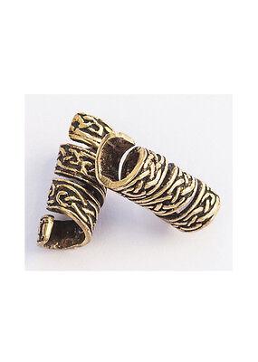 Mittelalterliche Bartperle mit keltischem Knoten aus Bronze