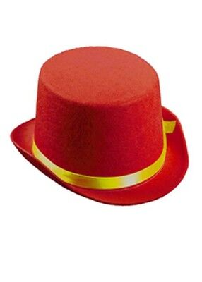 Kids Size Circus Clown Red Top Hat