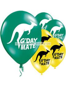 Australian Theme Assorted Party Balloons Pk10