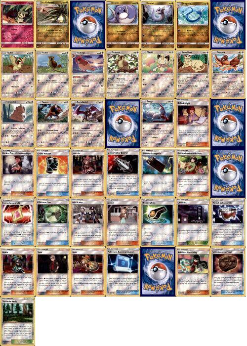 Pokemon Sonne und Mond  Teams sind Trumpf  Reverse Holo 112-157 - zum aussuchen!