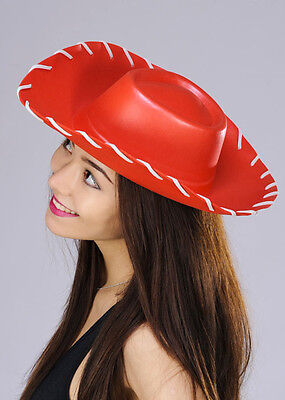 ADULT LADIES RED COWBOY COWGIRL STETSON HAT - TOY STORY JESSIE STYLE  H36 444 (Cowgirl Adult Costumes)