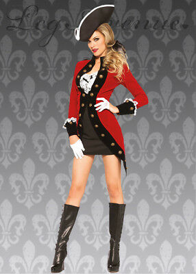Captain Hook Costume Women (Womens Captain Hook Style Red Pirate Lady)