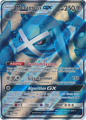 Pokemon Metagross-GX  - 139/145 - Full Art Ultra Rare NM-Mint, English