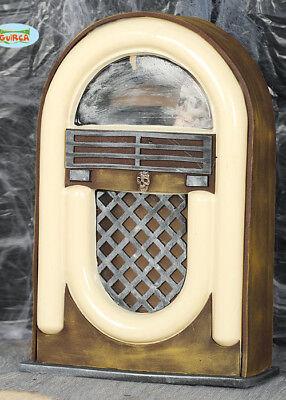 Halloween Vintage Radio Jukebox Prop with Light and Sound (Jukebox Prop)