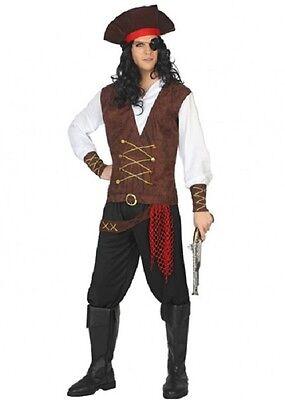 Kostüm Herren Pirat Buccaneer braun XL Kostüm Erwachsene neu billig