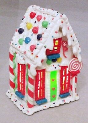 Light Up Lollipops (Gingerbread House White Lollipop LED Light Up Gum Ball Clay-dough 6