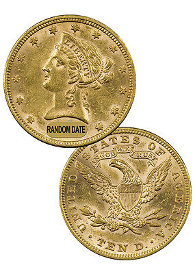 Click now to see the BUY IT NOW Price! RANDOM DATE 1866 1907 $10 LIBERTY EAGLE GOLD COIN WITH MOTTO AU SKU36946