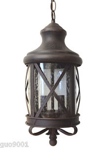 Aluminum Outdoor Exterior Lantern Wall Lighting Fixture Rusted  Sconce Hanging
