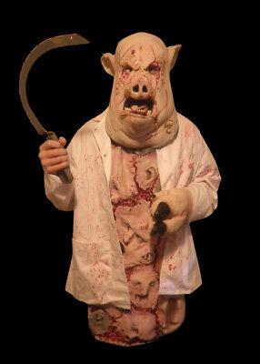 Bloody Scary Swine Flu Butcher Costume Halloween Mask](Swine Flu Halloween Costume)