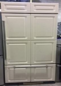 "36"" Subzero built in fridge freezer PRICE $4500"