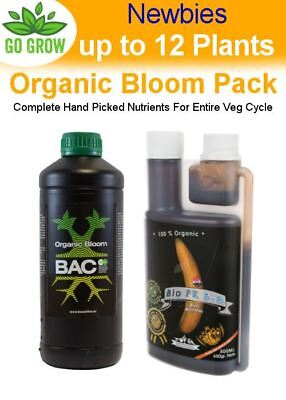 Newbies Organic Bloom Pack (Up to 12 plants) - Complete Feed Set