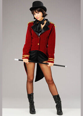 Womens Greatest Showman Style Ringmaster Costume INCLUDES JACKET AND COLLAR ONLY - Ringmaster Costume Jacket