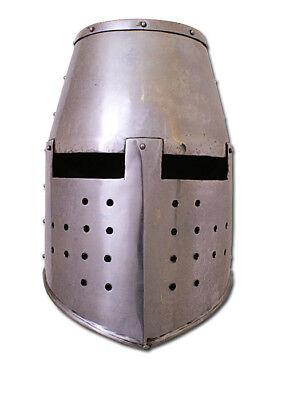Topfhelm Mittelalterhelm Ritterhelm 1,6 mm Stahl
