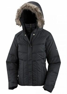 Bliss Down Jacket (COLUMBIA LUXEY BLISS Down Puffer Jacket Winter Coat Fur Hooded Womens Small Omni)