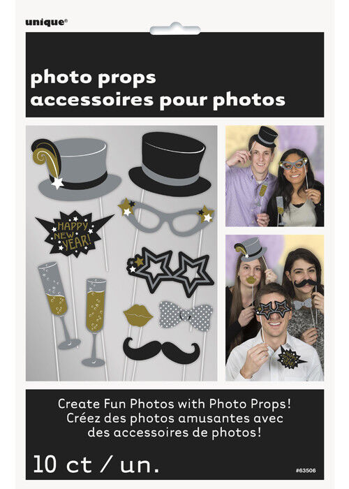 New Years Eve Party Photo Booth Accessory Kit
