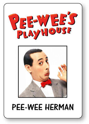 PEE WEE HERMAN PEEWEES PLAYHOUSE NAME BADGE HALLOWEEN COSPLAY MAGNET BACK - Pee Wee Herman Halloween Costume