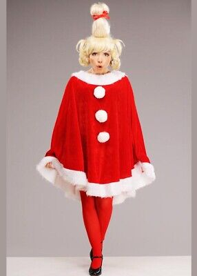 Adult The Grinch Style Cindy Lou Who Costume with Wig
