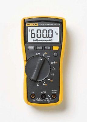 Fluke 115 Digital Handheld Hvac Multimeter True Rms Cat Iii 600 V Uk