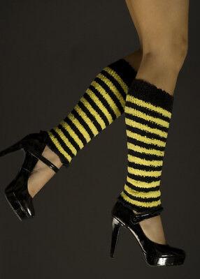 Yellow Striped Bee Leg Warmers - Bee Leg Warmers