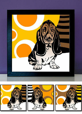 Basset Hound No.1 pop art Bilder 60er 70er Jahre Tierportraits Hund Foto Poster