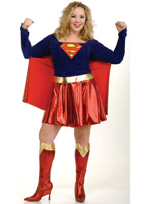 Womens Plus Size Supergirl Kostüm