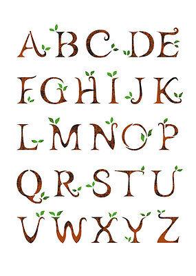 "WALL STENCILS PATTERN 12.99""x9.05"" Airbrush STENCIL LARGE TEMPLATE alphabet 3080"